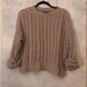 Cream Cable Knit - super soft